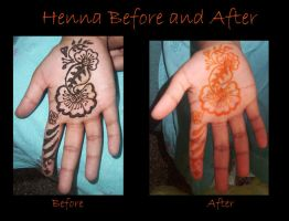 Henna Before and After by BrigadierBenchpress