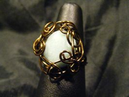 freeform ring amazonite and bronze by BacktoEarthCreations
