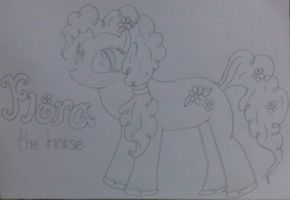My Little Pony: Flora (no colour) by befiel