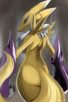 Renamon Backside by Jiayi