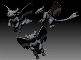 Zbrush - Deformed Toothless by Zerox-II