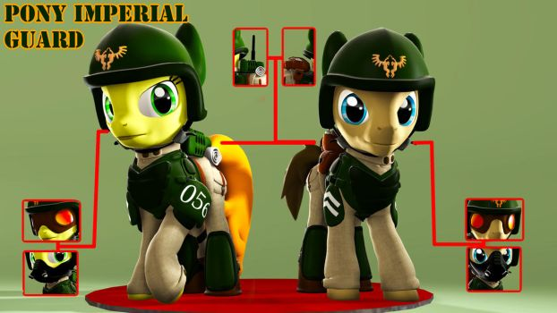 Pony Imperial Guard Armor[Download] by koni126