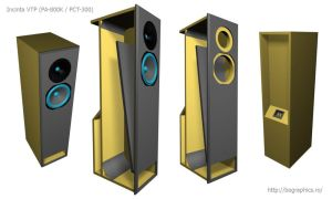 VTP enclosure audio speakers by bographics