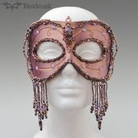 Beaded-leather-gala-mask by Beadmask