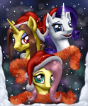 The three best ponies for the best celebration by Mekamaned