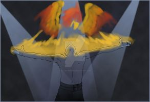 Freddie Mercury is a phoenix by Elyan-Dreams