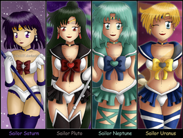 Sailor Moon: Outer Senshi by izka197