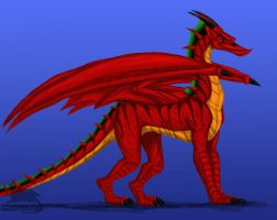 Chromatic dragon jake long by Ravenfire5