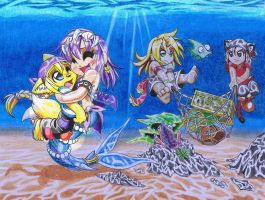 Pillaging under the sea by Aquavore35