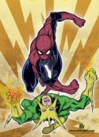 Spiderman vs Electro by mdavidct