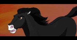 BlackPearl as a horse - screen by PerliszNaSA