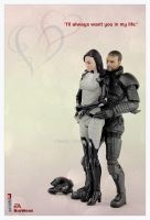 Shepard and Miri by shatinn