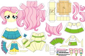 Fluttershy (Joey's Chibi Girls 044) by ELJOEYDESIGNS