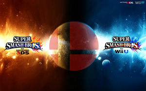 Super Smash Bros. Wii U/3DS Logo Wallpaper #2 by TheWolfBunny