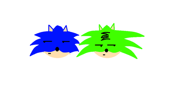 Sonic and Greeny by Greenthahedgehog