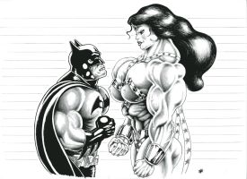 Batman vs real Wonder Woman by crisshapes