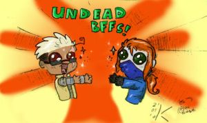 Undead BFFs by Koskish