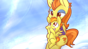 [SpeedDraw] Filly Spitfire and Stormy Flare by DShou