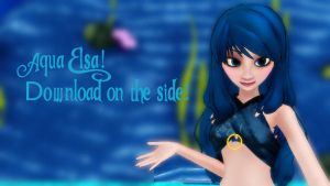 MMD Aqua Elsa Download by Rainbowdashie11