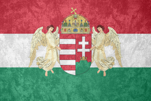 Kingdom of Hungary ~ Grunge Flag (1867 - 1918) by Undevicesimus