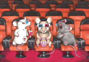 3D MICE. by CameronHarperArt