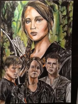 The Hunger Games drawing by MelieseReidMusic