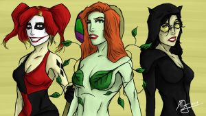 Gotham City Sirens by Demon-Sword-Art