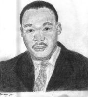 Martin Luther King Jr. by juicethehedgehog