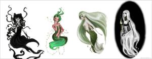 Underworld nymphs by Arbetta