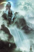 The great God of waterfalls by Elvisegp