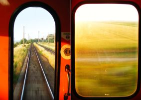 Morning on a train by Lady-Mystica