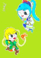 Toon Linkle and Toon Lana by SuperMattyBros