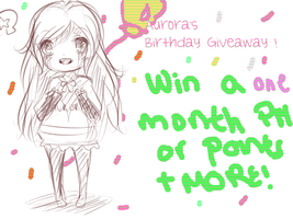 Aurora's Birthday PM/POINTS Giveaway ! by PastelLights