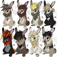 Maned Rabbit Adoptables 1 GONE by Kasara-Designs