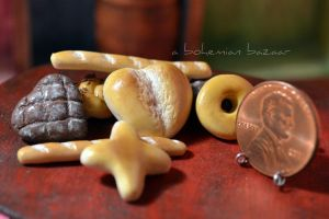 Valentines Day Assorted Breads 1:12 Scale by abohemianbazaar