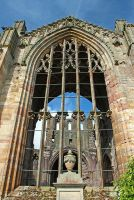 The Front of Melrose  Abbey by AgiVega
