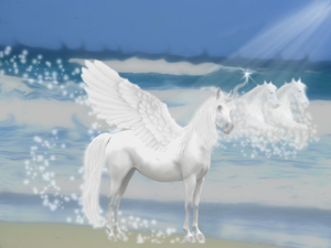 Pegasus And The Sea Horses