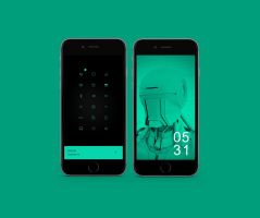 Green Setup Iphone 6 by yohandeku32