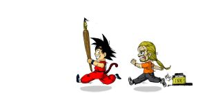 Goku little thief by RafaConte