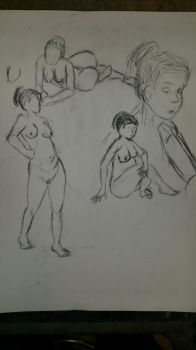 life drawing #5 by Gary3-6-9