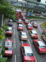 Hong Kong taxis by Trinity23