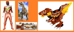 Orange Dino Charge Ranger for Masonmccoll by Greencosmos80