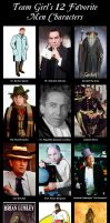 Team Girl's 12 Favorite Men Characters by TeamGirl-Differel