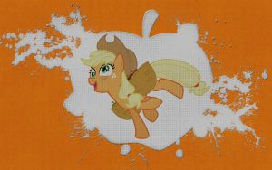 Crazy applejack - wallpaper by Aeniug2