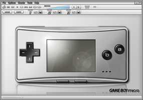 Gameboy Micro Skin by TheCloudOfSmoke