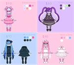 [$10 OPEN] Original Inklings - Lolita Adoptables by Ghiraham-Sandwich