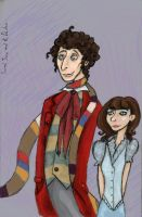 Sarah Jane and the Doctor by SmudgeThistle