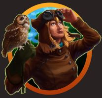 Lomadia owl by Syncrasis