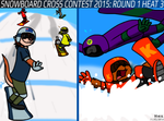 Snowboard Cross Contest 2015: Round 1 Heat 3 by BluebottleFlyer