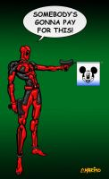 DEADPOOL DISNEY PRANK MARVEL COMICS by CORY-MARINO